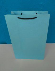 jual paper bag atau tas kertas warna biru ready stock