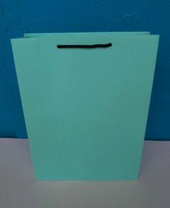 jual tas kertas atau paper bag warna hijau bahan kertas bc