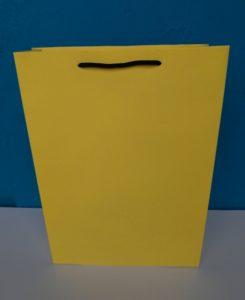 jual tas kertas polos warna kuning atau paper bag warna kuning