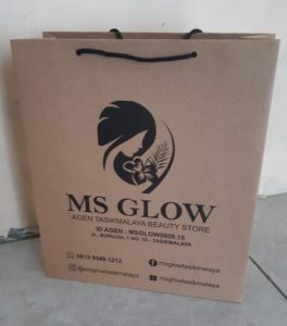 tas kertas cream kecantikan ms glow